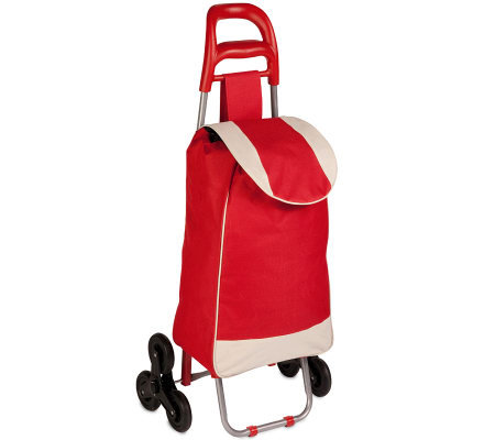 Honey-Can-Do Bag Cart with Tri-Wheel Design