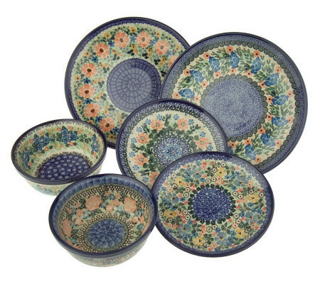 Polish Stoneware Signature 6-piece Dinnerware Set