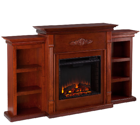 gilmore electric fireplace with bookcases page 1. Black Bedroom Furniture Sets. Home Design Ideas