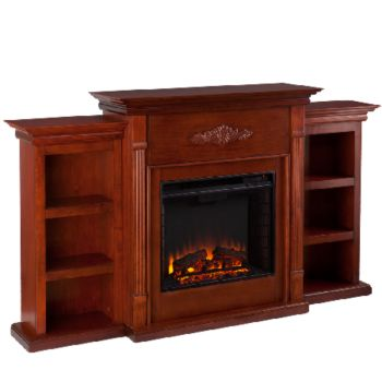 Gilmore Electric Fireplace with Bookcases