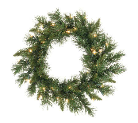 "30"" Imperial Pine Prelit Wreath by Vickerman -Clear"