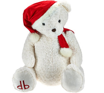 "Dennis Basso 29"" Jumbo Cuddly Teddy Bear with Santa Hat - H205789"