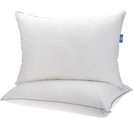 "Serta Set of 2 Jumbo 20"" x 28"" Bed Pillows"