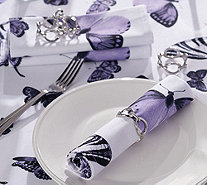 Casa Zeta-Jones Set of 4 Silver Napkin Rings - H215289