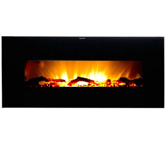 Warm House Valencia Wide Wall-Hanging Electric Fireplace - H281889