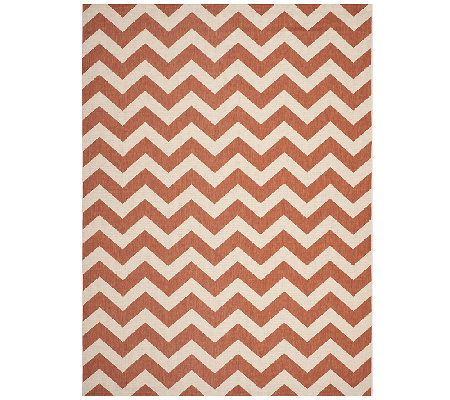 Safavieh 8' x 11' Horizontal Zigzag Indoor/Outdoor Rug