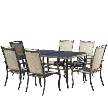 Cosco Serene Ridge 7 Piece Aluminum Dining Set