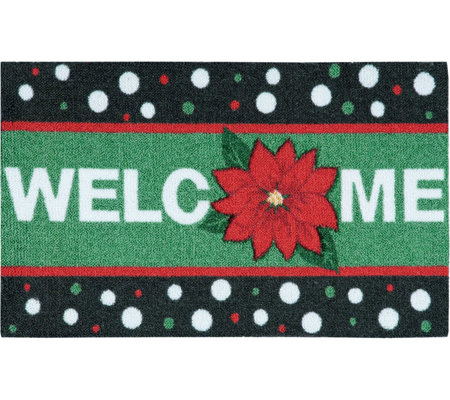 "Nourison Enhance 17"" x 28"" Christmas Welcome Rug"