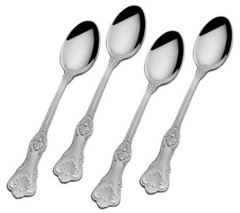 Wallace Hotel 18/10 Stainless Steel Set of 4 Demi Spoons - H363689