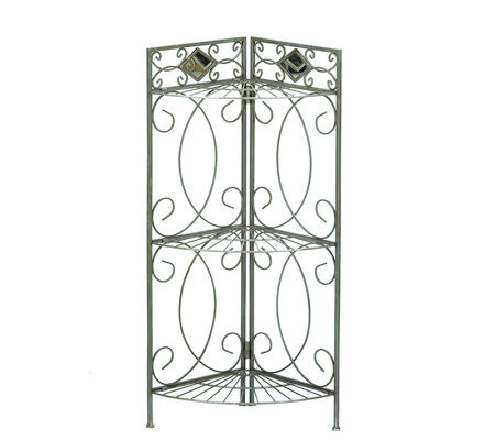 Pewter Bathroom Corner Rack