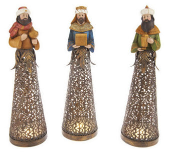 3-piece Illuminated Nativity Scene with Timers by Valerie - H200690