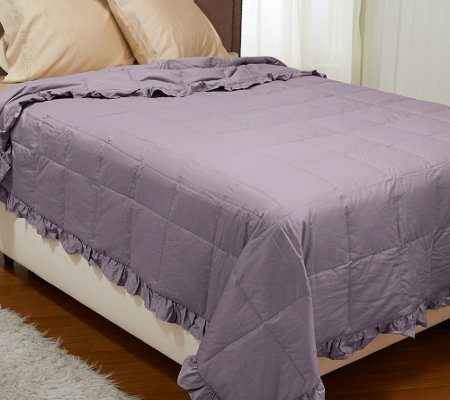 Northern Nights 400TC 550FP All Seasons Ruffle Queen Down Blanket