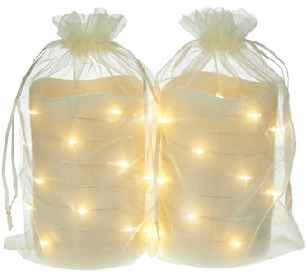 "Lightscapes (2) 5"" Swirl Light Flameless Candles with Gift Bags - H207990"