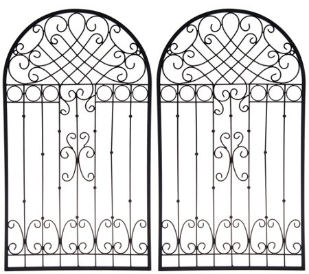 "Indoor/ Outdoor Set of (2) 30"" Metal Garden Gates by Valerie"