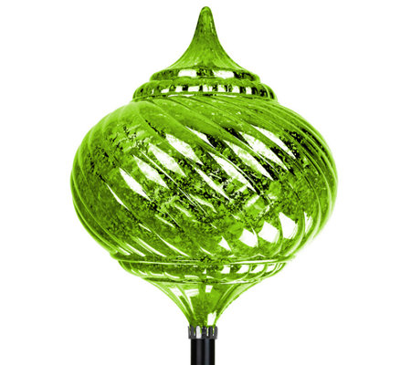 Exhart Solar Medium Onion Finial Garden Stake
