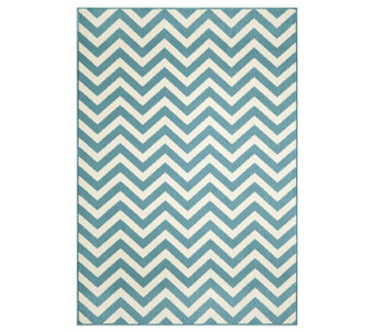 "Momeni Baja Chevron 6' 7"" x 9' 6"" Indoor/Outdoor Rug - H286190"