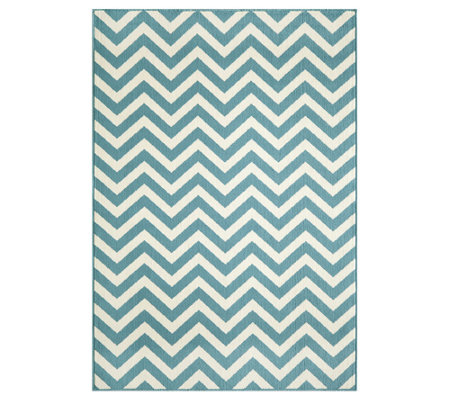 "Momeni Baja Chevron 6' 7"" x 9' 6"" Indoor/Outdoor Rug"