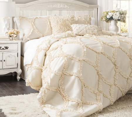 Avon 3-Piece Queen Comforter Set by Lush Decor