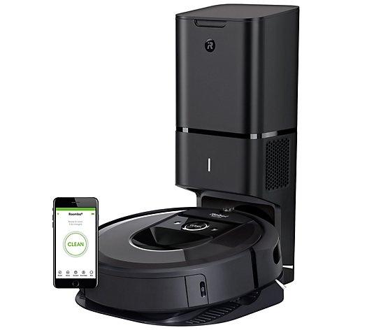 Irobot Roomba I7 Plus Robot Vacuum Automatic Di Rt Disposal Qvc Com