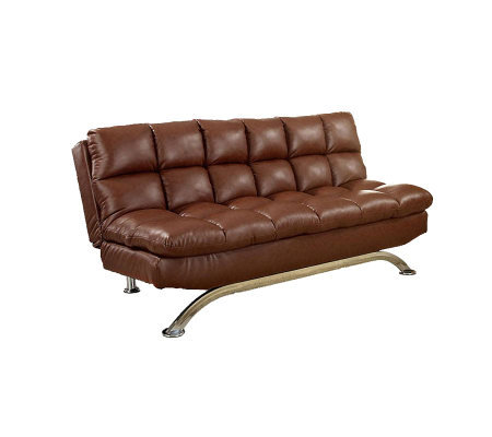 Aristo I Faux-Leather Futon Sofa