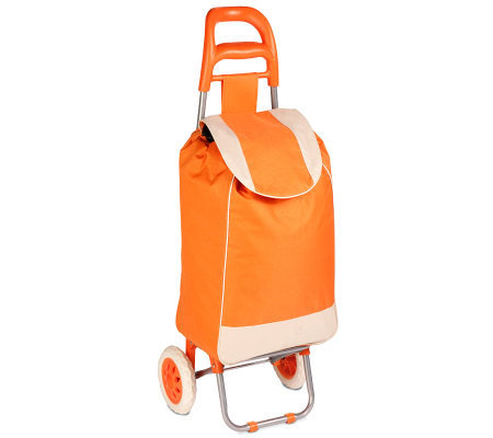 Honey-Can-Do Rolling Fabric Cart - Orange