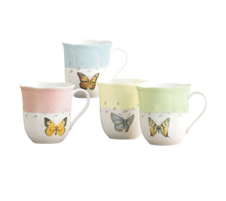Lenox Butterfly Meadow Mugs, Set of Four