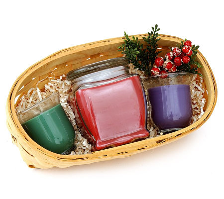 Holiday Candle Gift Basket by Valerie — QVC #2: h 001 $uspdlarge$