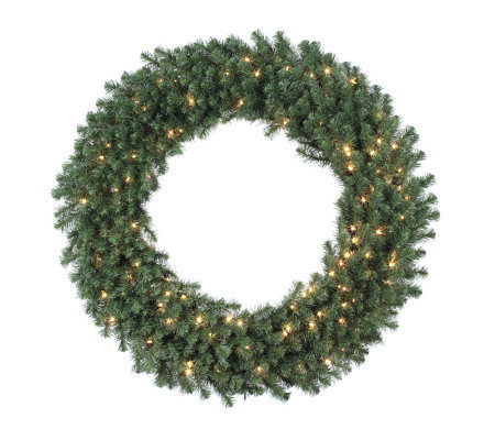 "48"" Douglas Fir Prelit Wreath w/Clear Lights byVickerman"