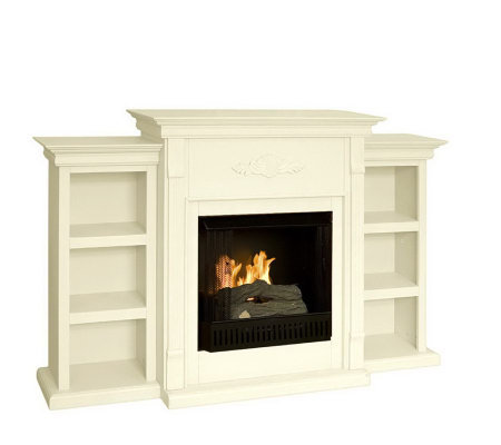 gilmore gel fuel fireplace with bookcases - Gel Fuel Fireplace