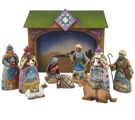 Jim Shore Heartwood Creek Set of 10 Mini Nativity Set