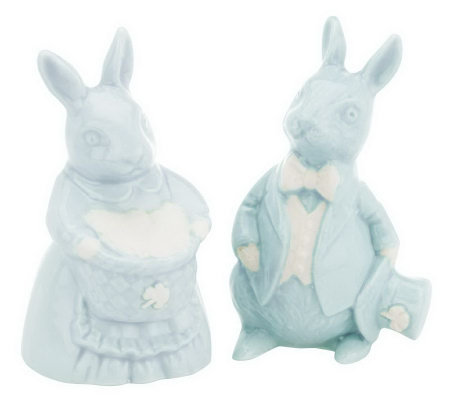 Farney Castle Set of 2 Porcelain Bunnies