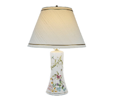 "Belleek Springtime 10"" Lamp with Shade"