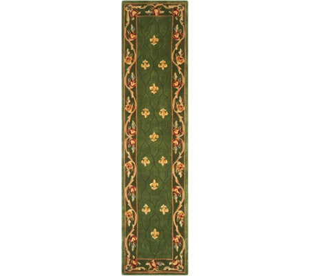 "Royal Palace Special Edition 2'3"" x 9'6"" Fleur de Lis Wool Rug"