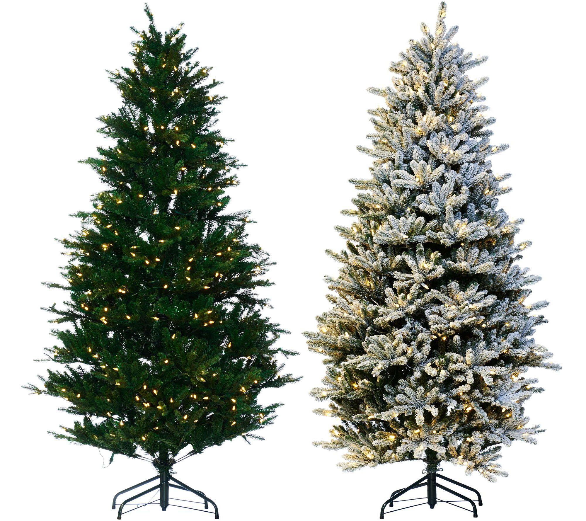 Santa's Best Balsam Fir Christmas Tree with RGB 2.0 Technology ...
