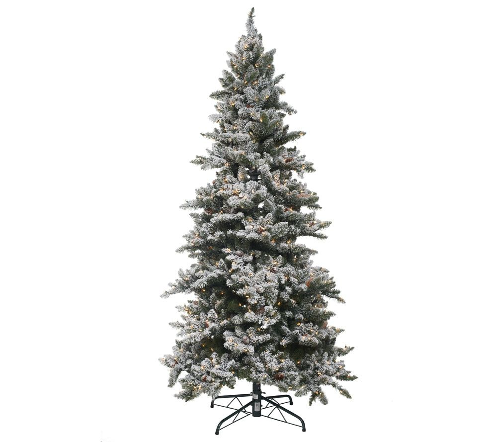 Bethlehem Lights 7.5' Woodland Pine Christmas Tree w/Instant Power ...