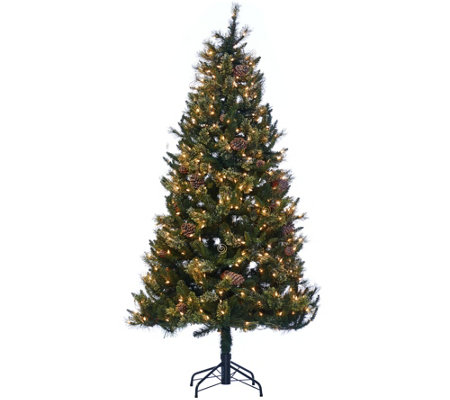 """As Is""Hallmark 6.5' FallenSnow Christmas Tree with Quick Set Technology"