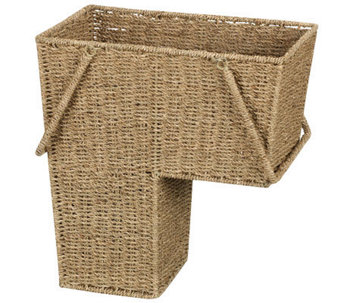Household Essentials Seagrass Stairstep Basket - H282491
