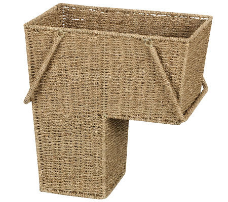 Household Essentials Seagrass Stairstep Basket