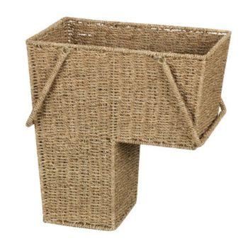 Household Essentials Seagrass Stairstep Basket
