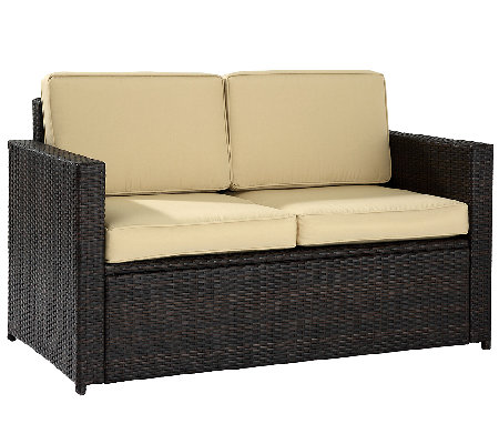 Crosley Palm Harbor Outdoor Wicker Love Seat