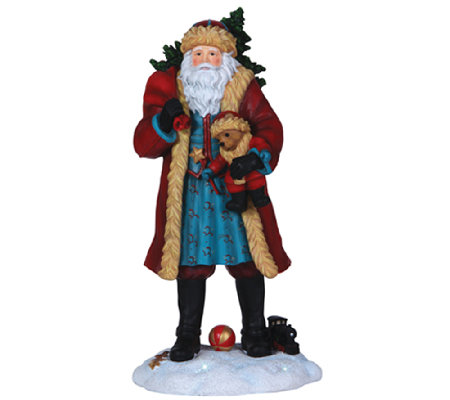 Limited Edition Santa and Teddy Figurine by Pipka