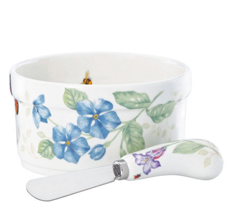Lenox Butterfly Meadow Dip Bowl and Spreader