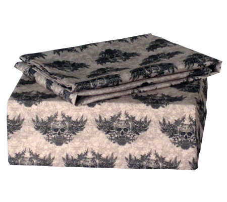 Veratex Winged Skull Twin Sheet Set