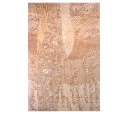"Momeni New Wave Ferns 7'6"" x 9'6"" Handmade WoolRug"