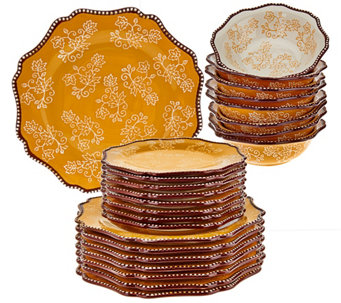 Temp-tations Floral Lace 24-piece Dinnerware Service for 8 - H204392