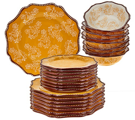 Temp-tations Floral Lace 24-piece Dinnerware Service for 8