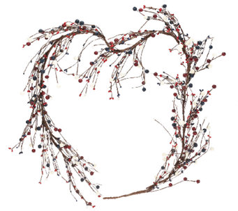 Red, White and Blue 4-foot Berry Garland by Valerie - H204792
