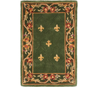 "Royal Palace Special Edition 3'x 4'6"" Fleur de Lis Wool Rug - H207292"