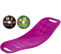 Simply Fit Core Workout Board with 2 DVD's by Lori Greiner - H211192