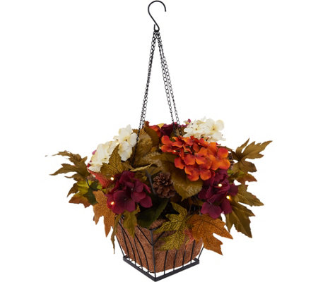 Bethlehem Lights Prelit Harvest Hanging Basket w/Timer